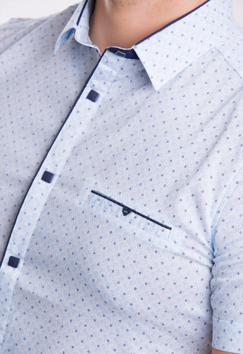 Рубашка TREND Небесный + орнамент 18248 - Фото