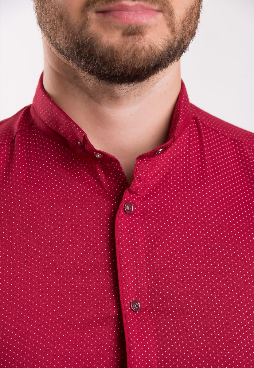 Рубашка Trend-Collection Красный + точка 18402 - Фото