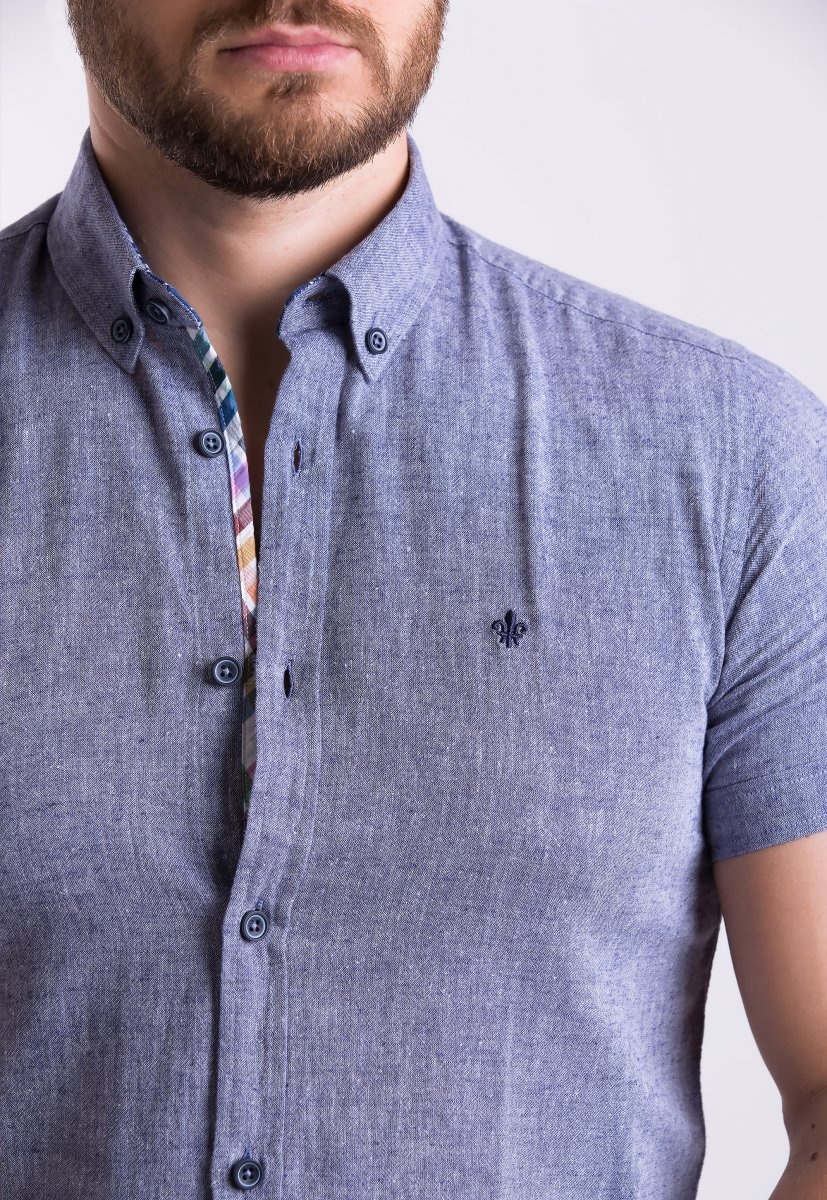 Рубашка Trend Collection 02-1094 Серый - Фото