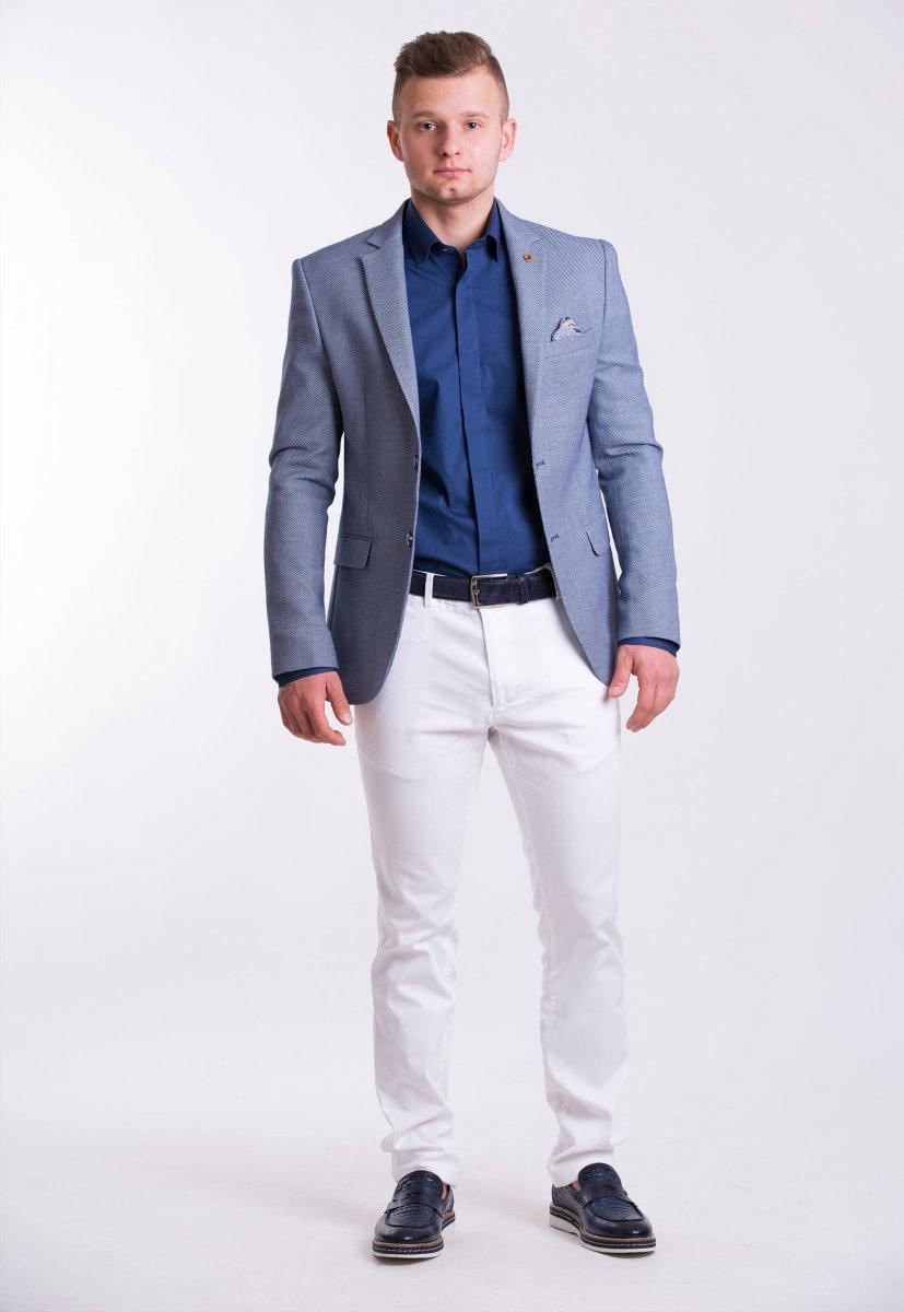 Пиджак Trend Collection TJK-06 Синий + серый меланж - Фото