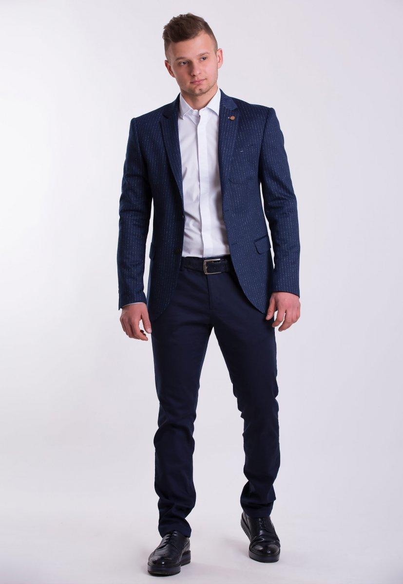 Пиджак TREND TJK-04 Синий + полоска - Фото 1