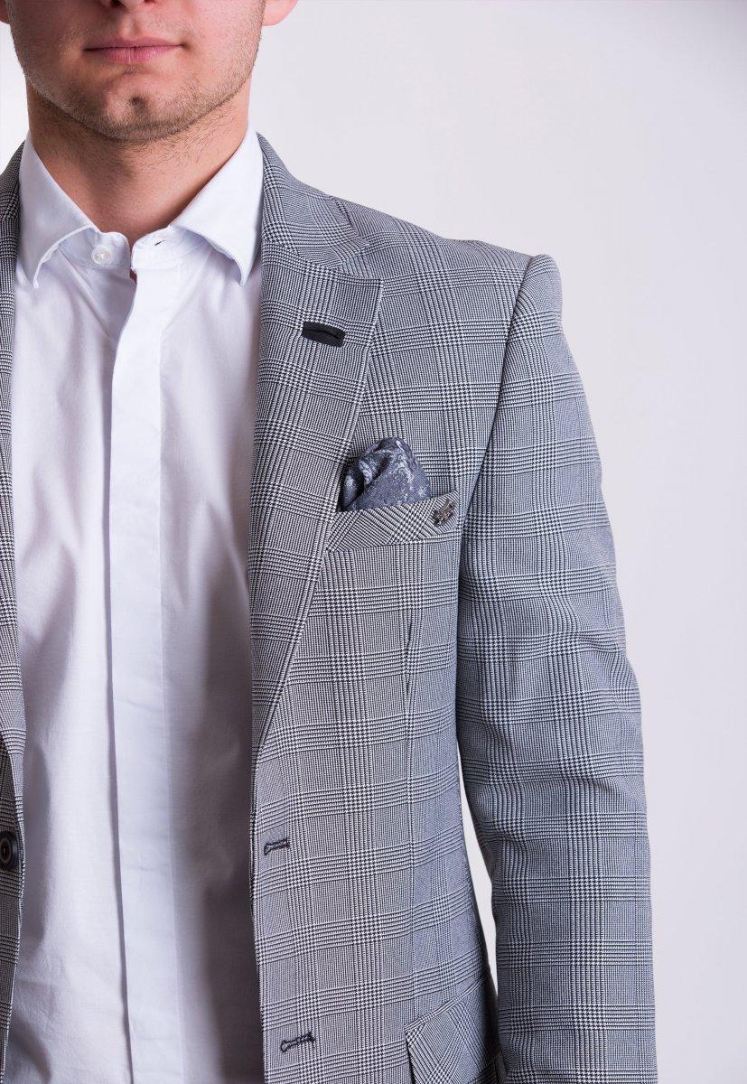 Пиджак TREND TJK-01 Серый + клетка - Фото 1