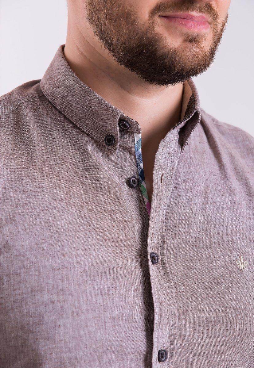 Рубашка Trend Collection 02-1096 Коричневый - Фото