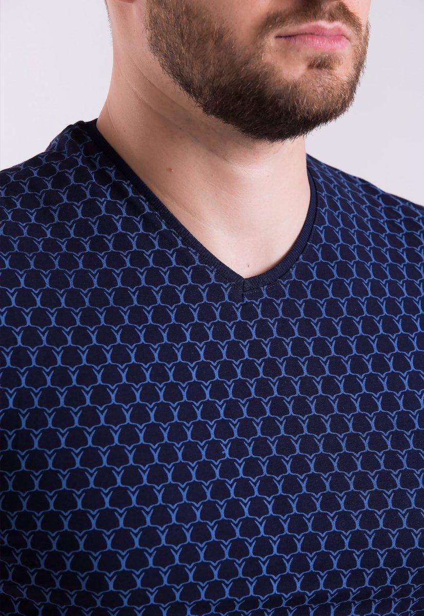 Футболка Trend Collection TSH4004 Синий + принт - Фото