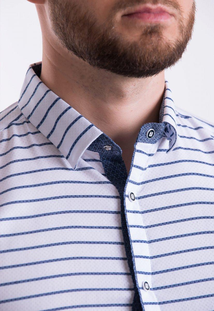 Рубашка Trend-Collection 18368 Белый + полоска - Фото