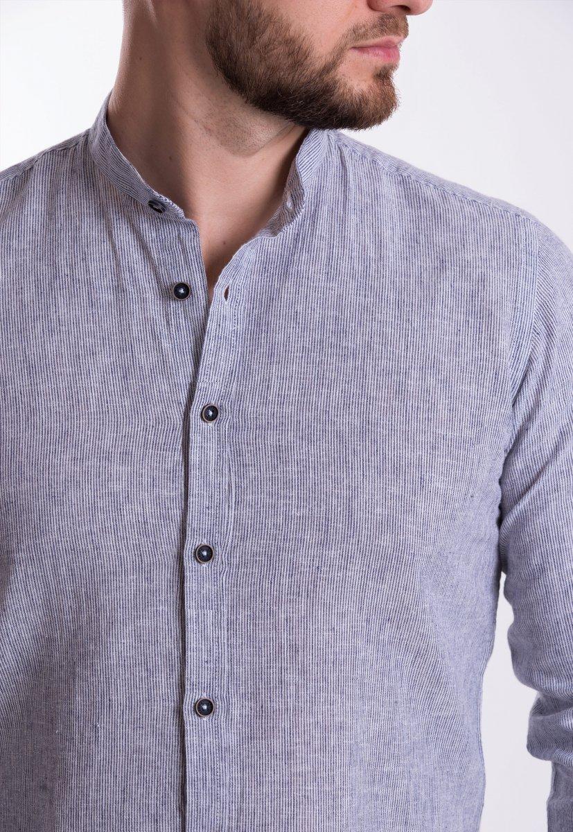 Рубашка Trend Collection U02-1046 Серый + полоска - Фото