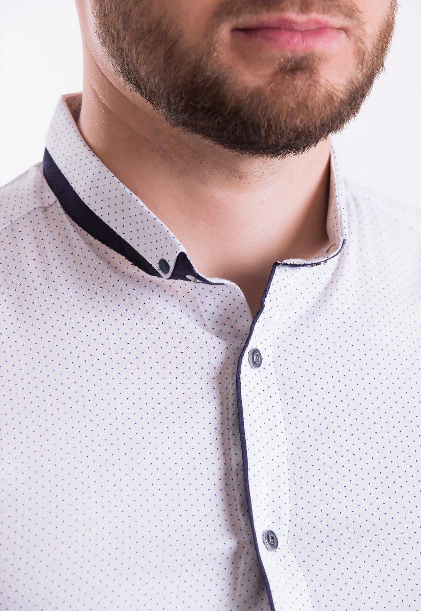 Рубашка Trend-Collection 18402 Белый + точка - Фото