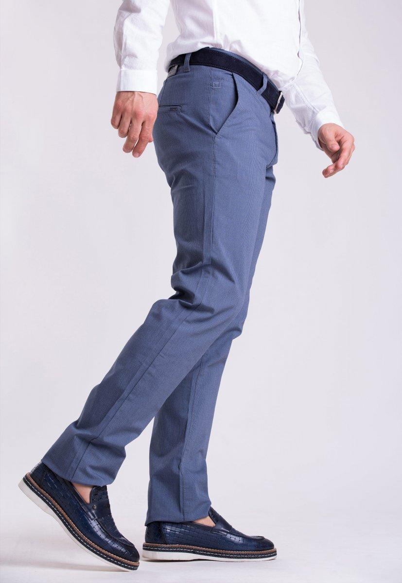 Брюки Trend Collection 12365 Св.синий + белая полоска (NAVY) - Фото