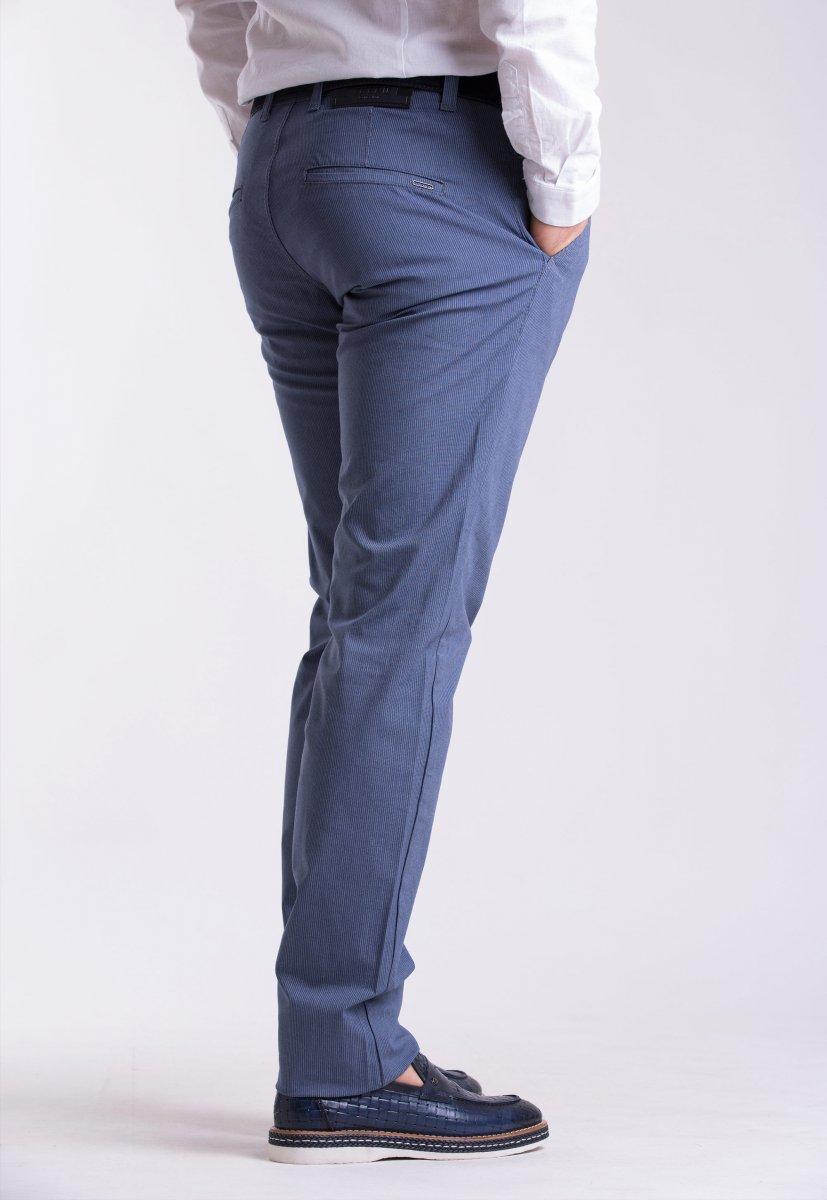 Брюки Trend Collection 12365 Св.синий + белая полоска (NAVY) - Фото 1