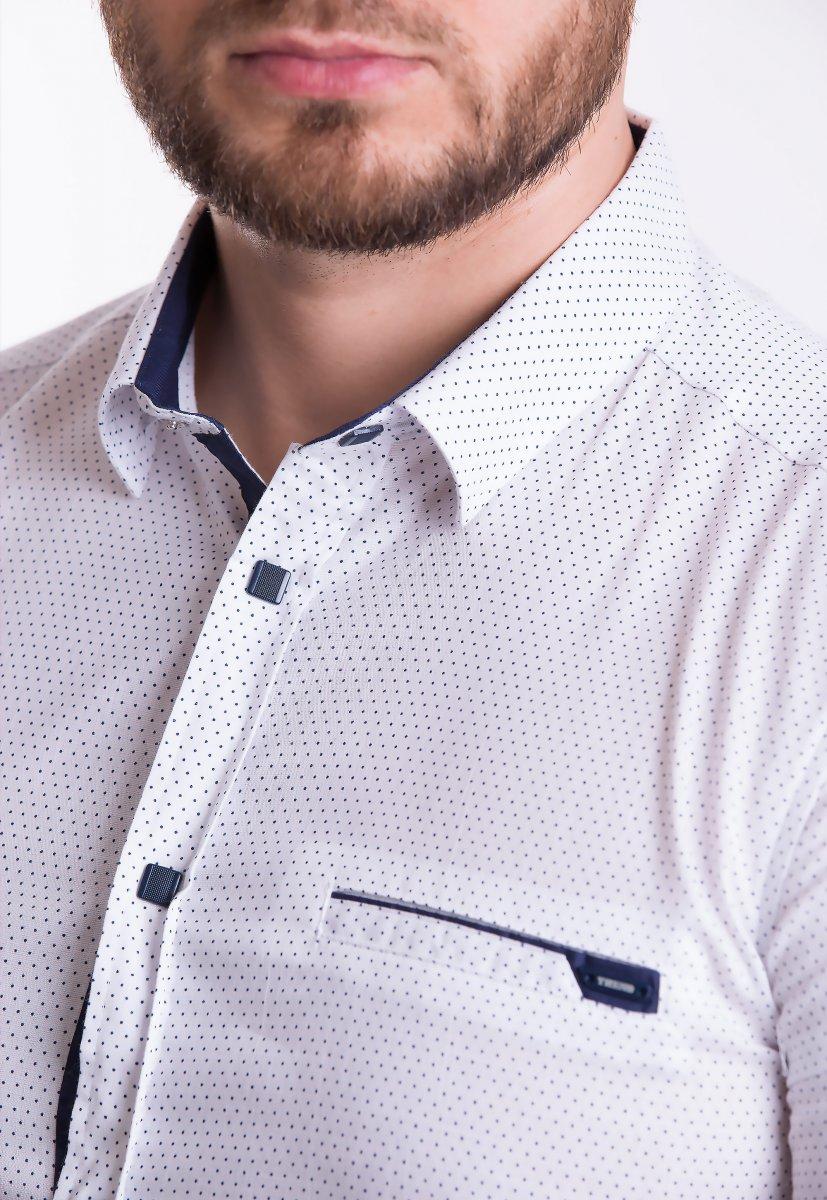 Рубашка Trend-Collection 18377-2 Белый + точка - Фото