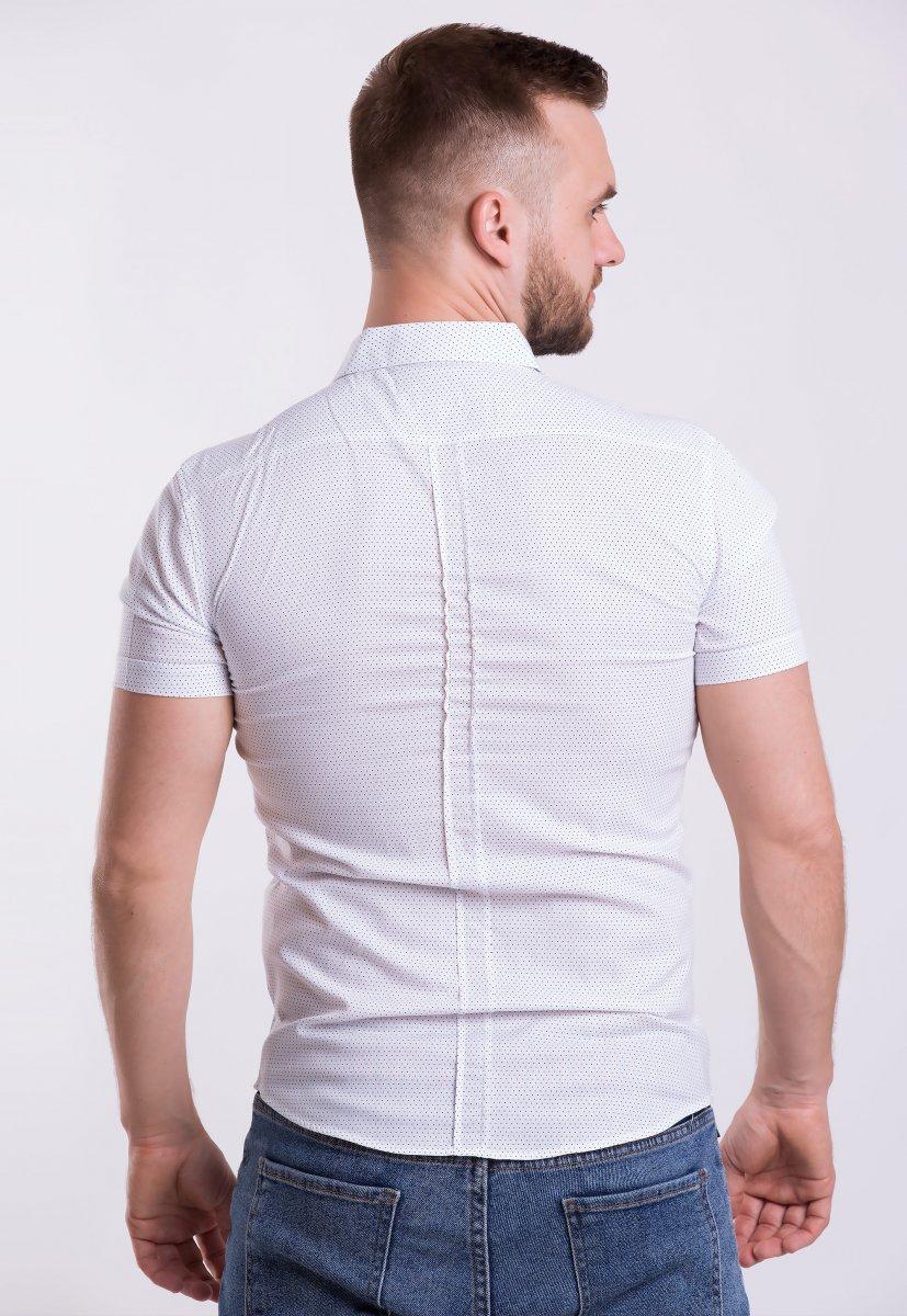 Рубашка Trend-Collection 18377-2 Белый + точка - Фото 1