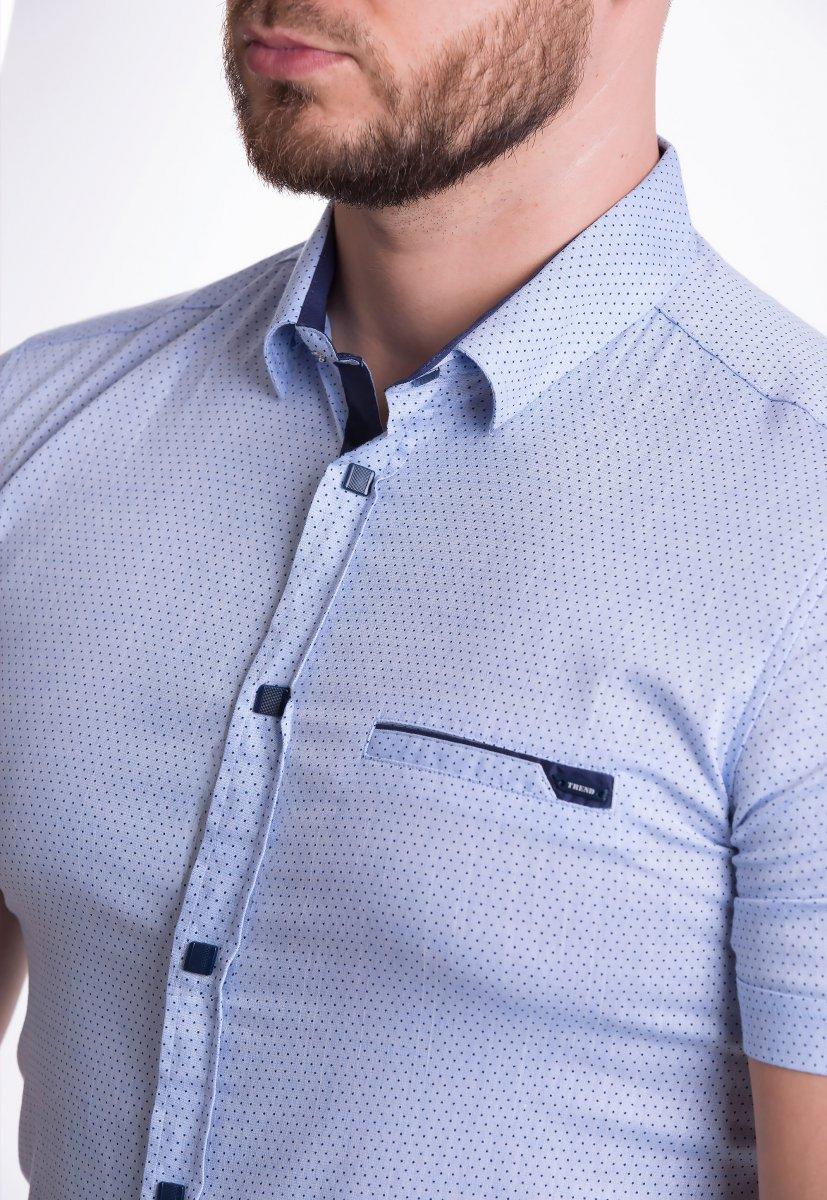 Рубашка Trend-Collection 18377-2 Небесный + точка - Фото