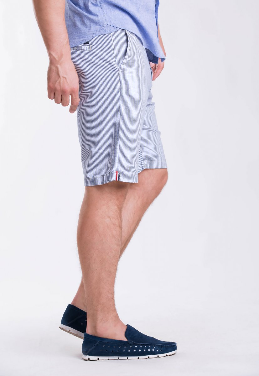 Шорты Trend Collection 12373 Серый+синяя полоска (LACI) - Фото