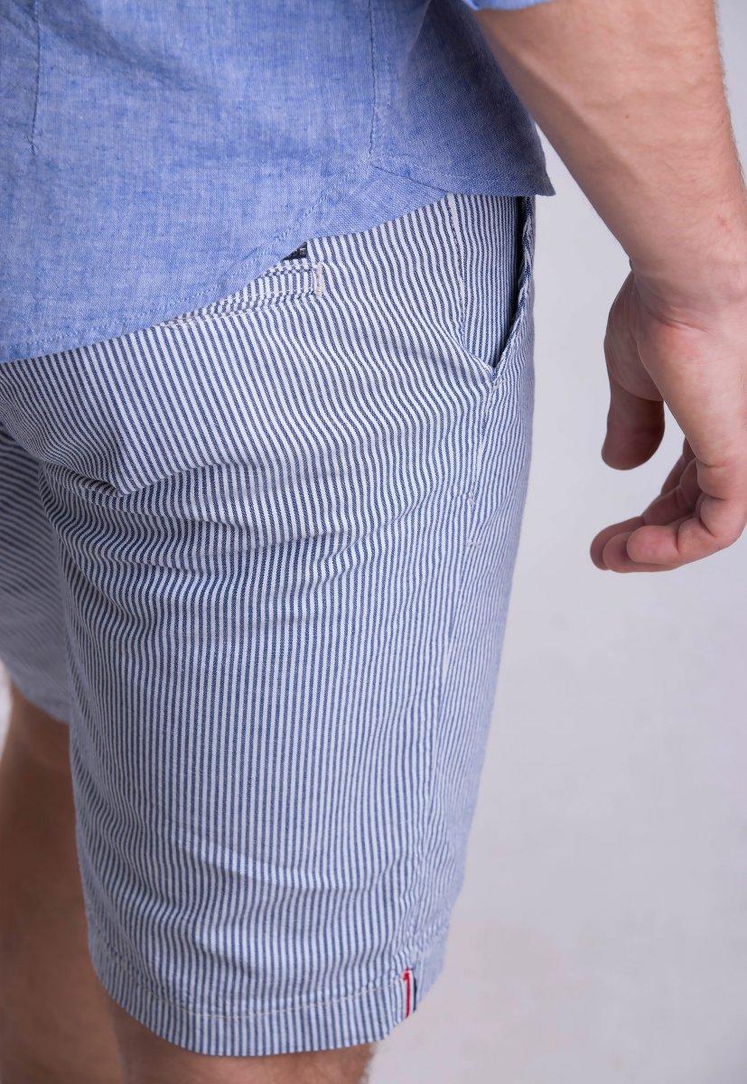 Шорты Trend Collection 12373 Серый+синяя полоска (LACI) - Фото 1