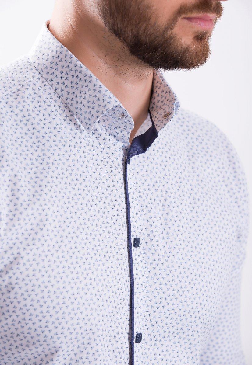 Рубашка TREND COLLECTION 18935 белая сирень - Фото