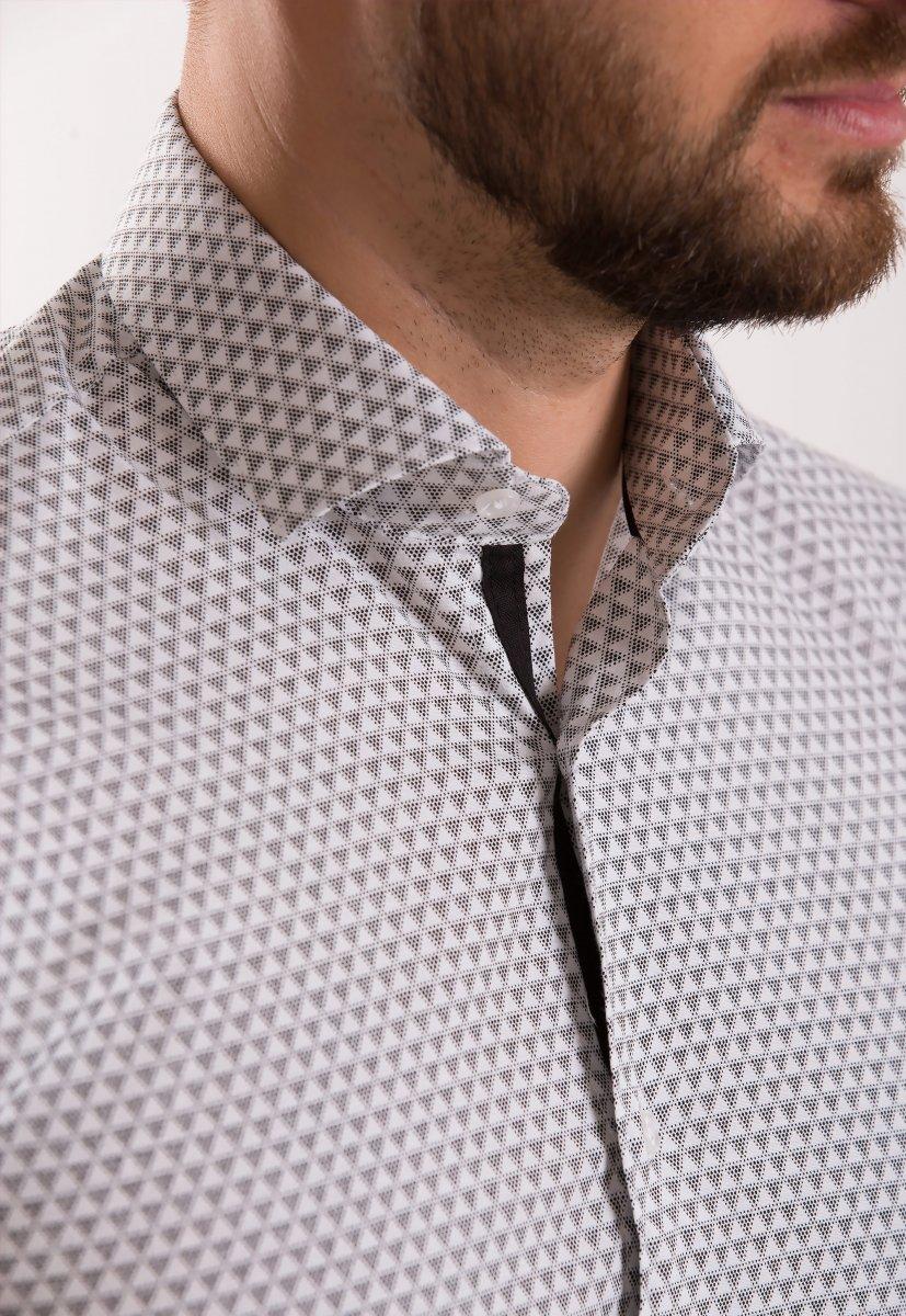 Рубашка Trend Collection 02-1061 Белый+треугольник - Фото 1