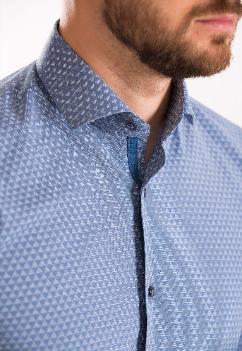 Рубашка Trend Collection 02-1061 Индиго+треугольник - Фото