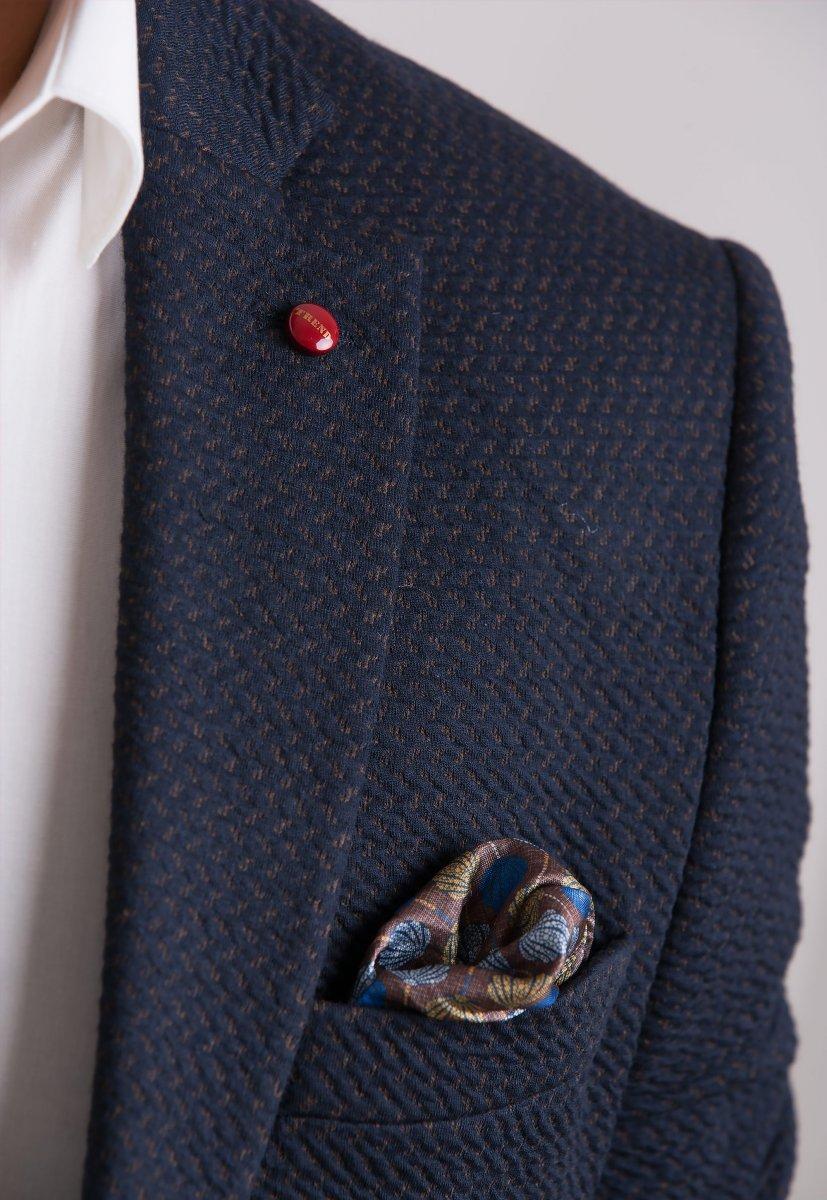Пиджак Trend Collection 701 Синий+коричневый - Фото 1
