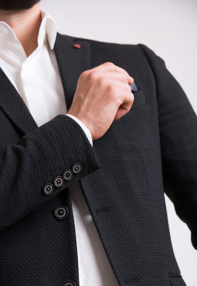 Пиджак Trend Collection 701 Черный+серый - Фото