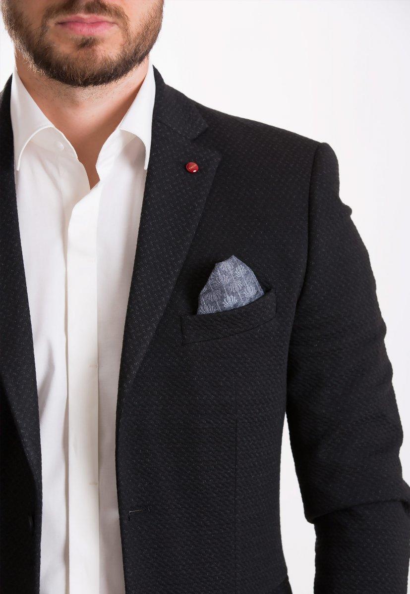 Пиджак Trend Collection 701 Черный+серый - Фото 1