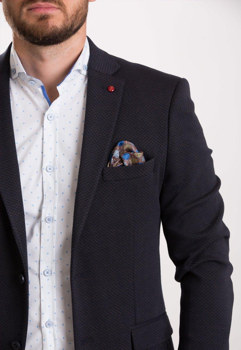 Пиджак Trend Collection 707 Синий+коричневый - Фото 1
