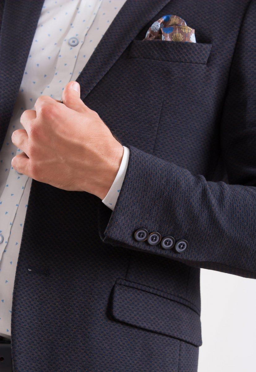 Пиджак Trend Collection 707 Синий+коричневый - Фото 2