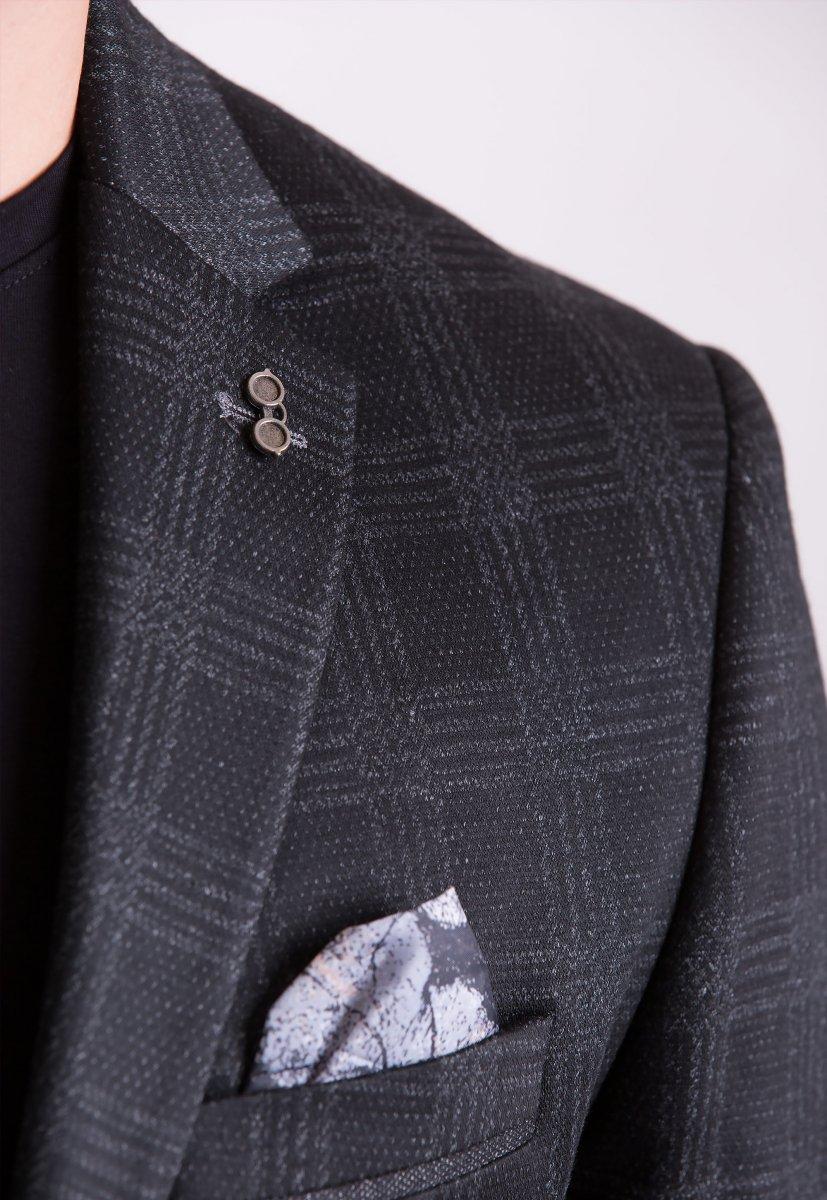 Пиджак Trend Collection TJK-012 Черный+серая клетка - Фото 1