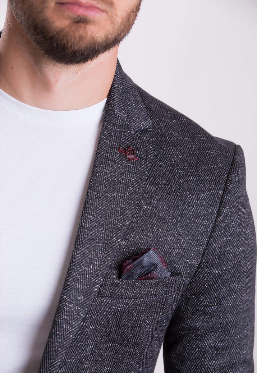 Пиджак Trend Collection TJK-009 Черный+елка - Фото