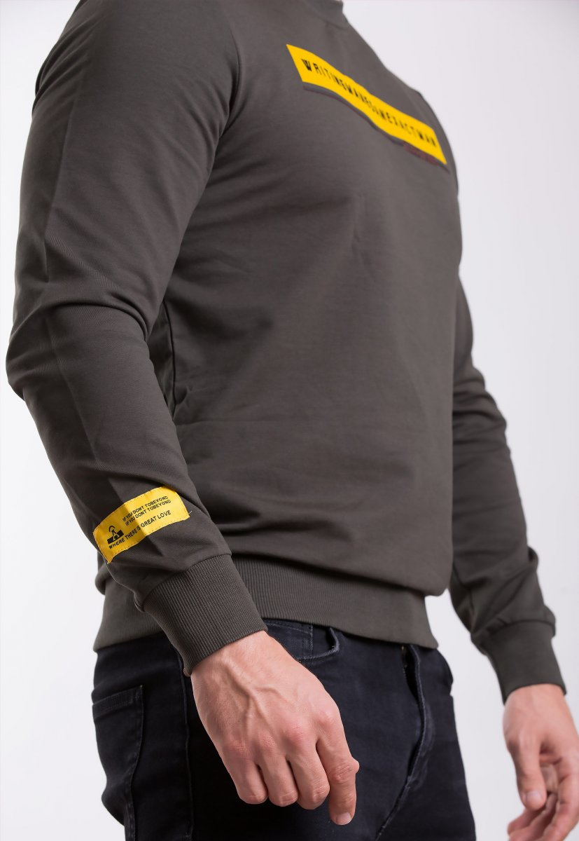 Реглан Trend Collection 338016 Хаки+желтый - Фото
