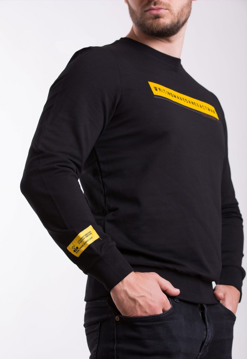 Реглан Trend Collection 338016 Черный+желтый - Фото