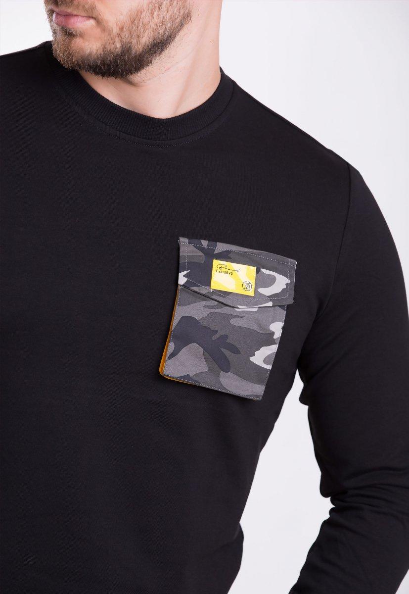 Реглан мужской Trend Collection 39069 Чёрный+карман - Фото