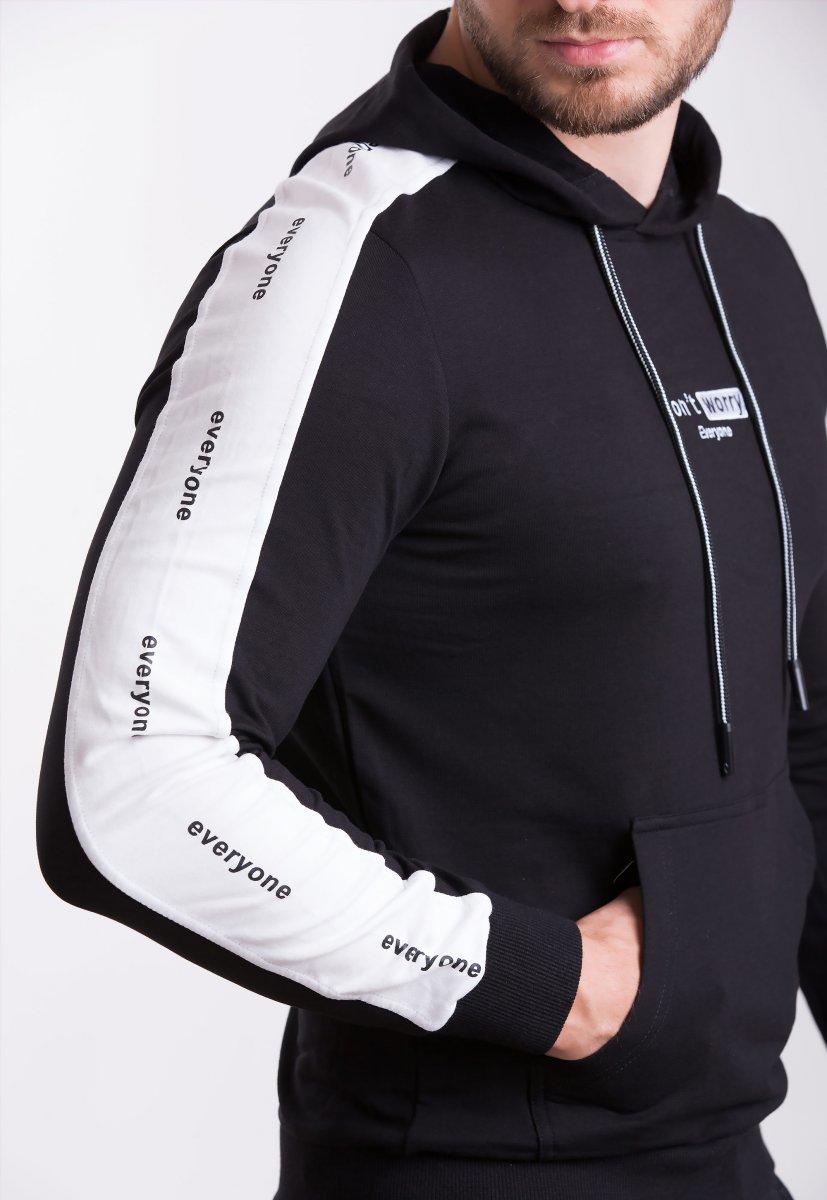 Реглан Trend Collection 39063 Черный+белая полоска - Фото
