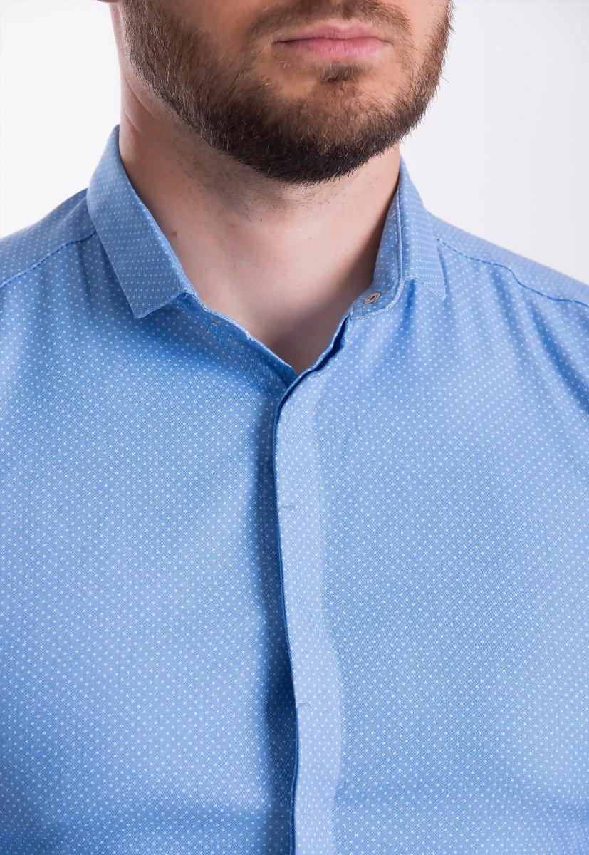 Рубашка Trend Collection 19132 Голубой+белая точка - Фото