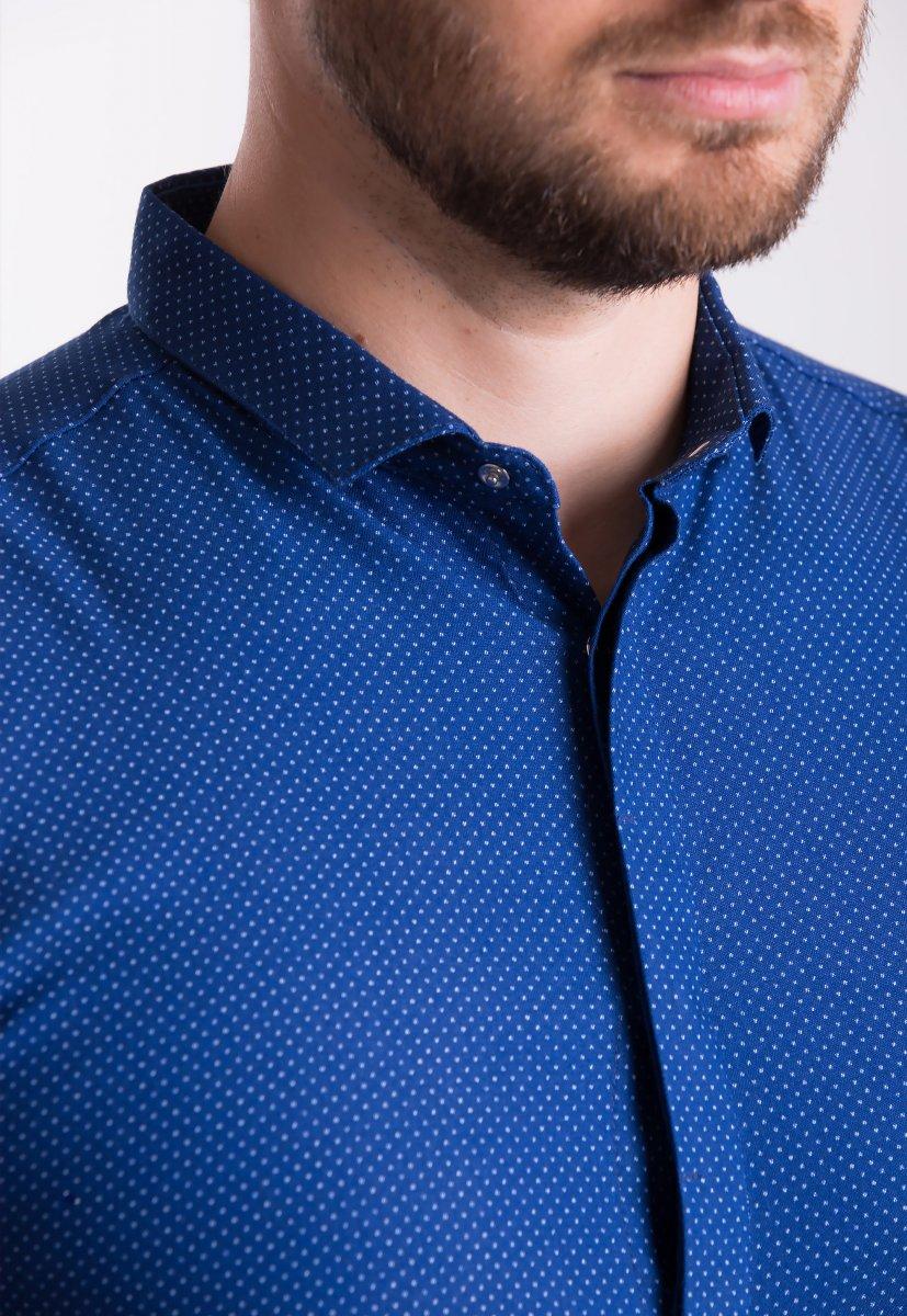 Рубашка Trend Collection 19132 Синий+белая точка - Фото