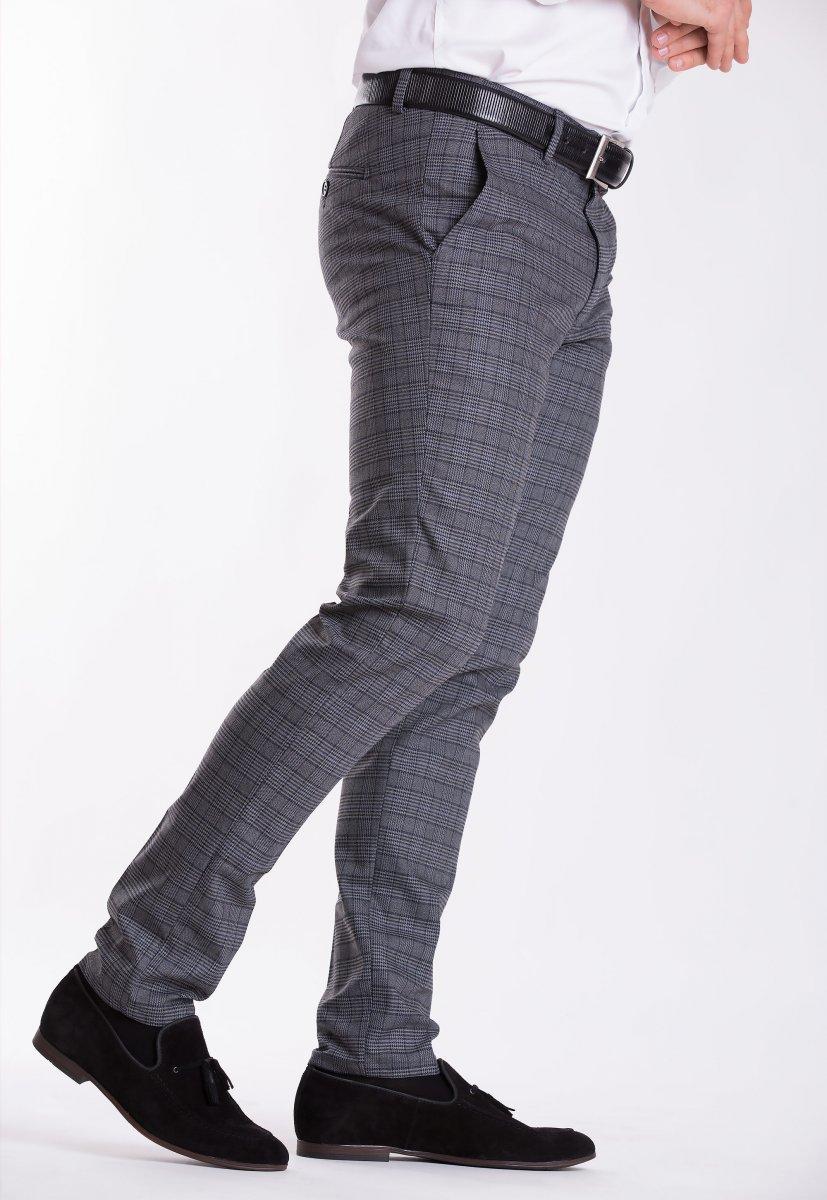 Брюки Trend Collection Y887 Серый+клетка - Фото