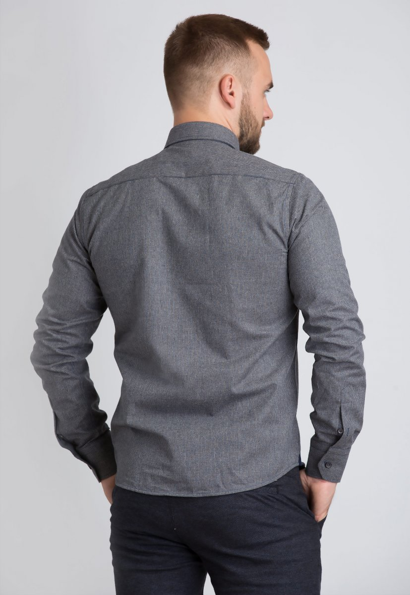 Рубашка Trend Collection U02-1001-20 Бежевый+синий - Фото