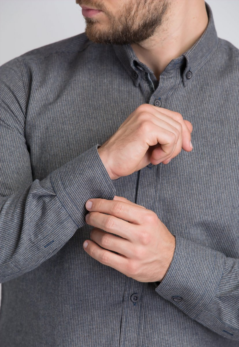 Рубашка Trend Collection U02-1001-20 Бежевый+синий - Фото 1