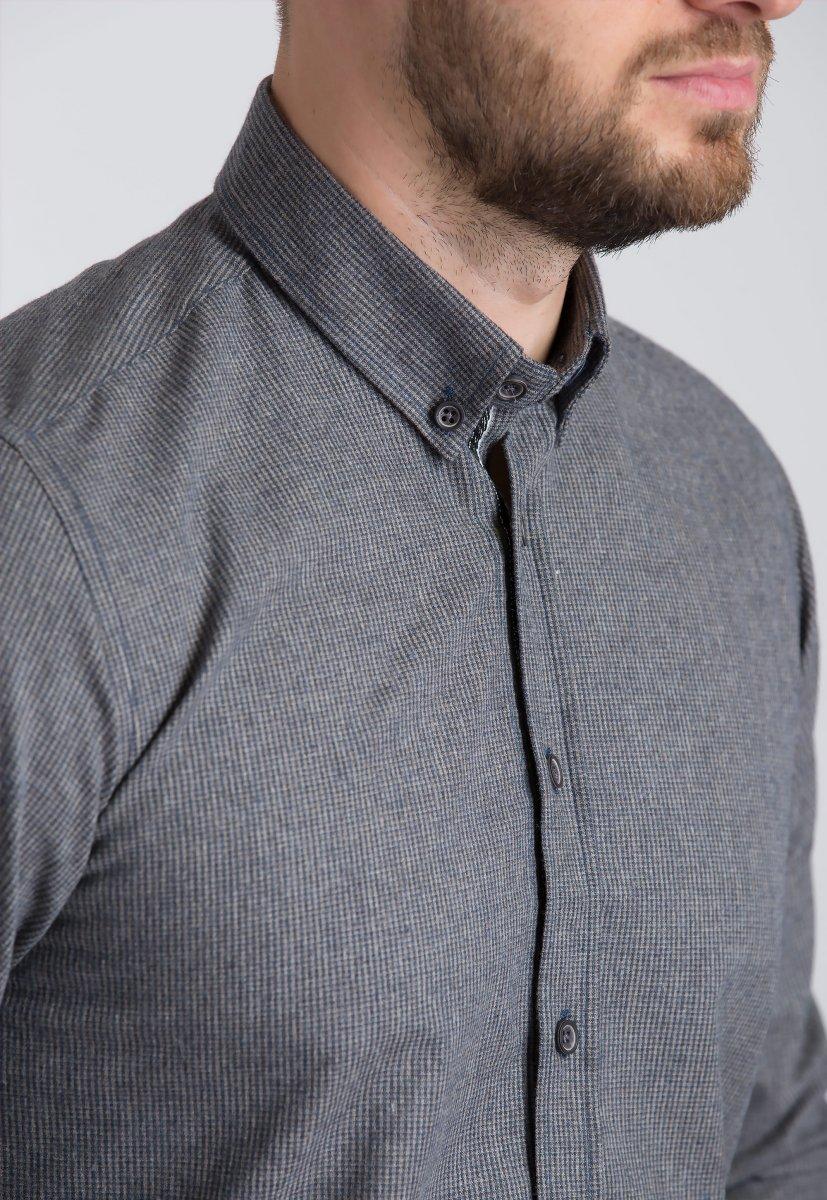 Рубашка Trend Collection U02-1001-20 Бежевый+синий - Фото 2