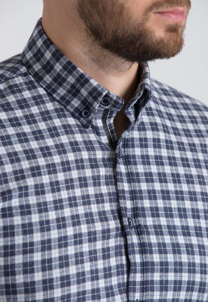 Рубашка Trend Collection U02-1001-20 Синий+белая клетка - Фото 1