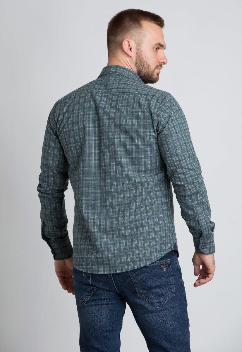 Рубашка Trend Collection U02-1001-20 Зеленый+белый+синий - Фото