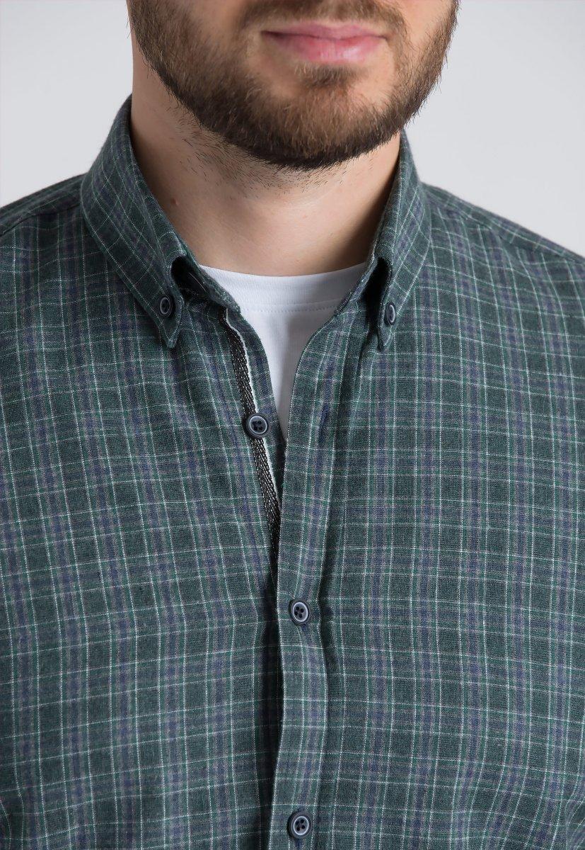 Рубашка Trend Collection U02-1001-20 Зеленый+белый+синий - Фото 2