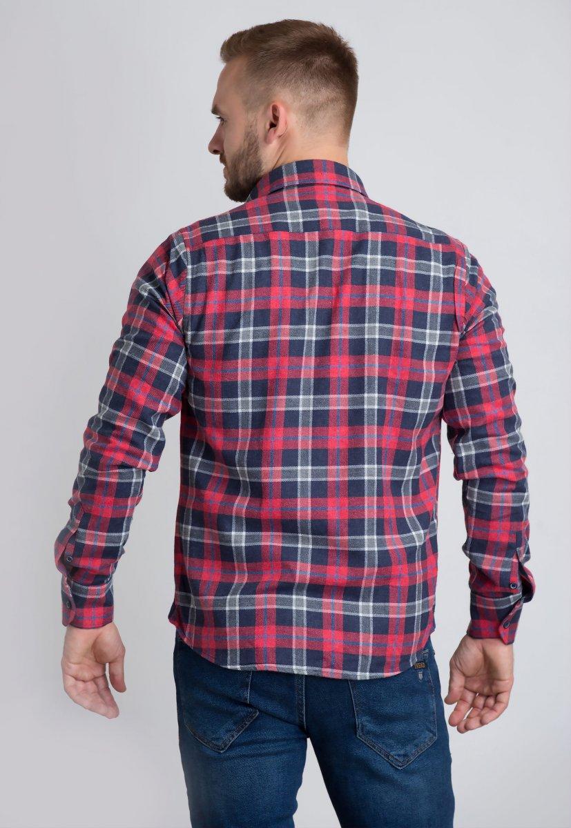 Рубашка Trend Collection U02-1001-20 Красный+синяя клетка - Фото