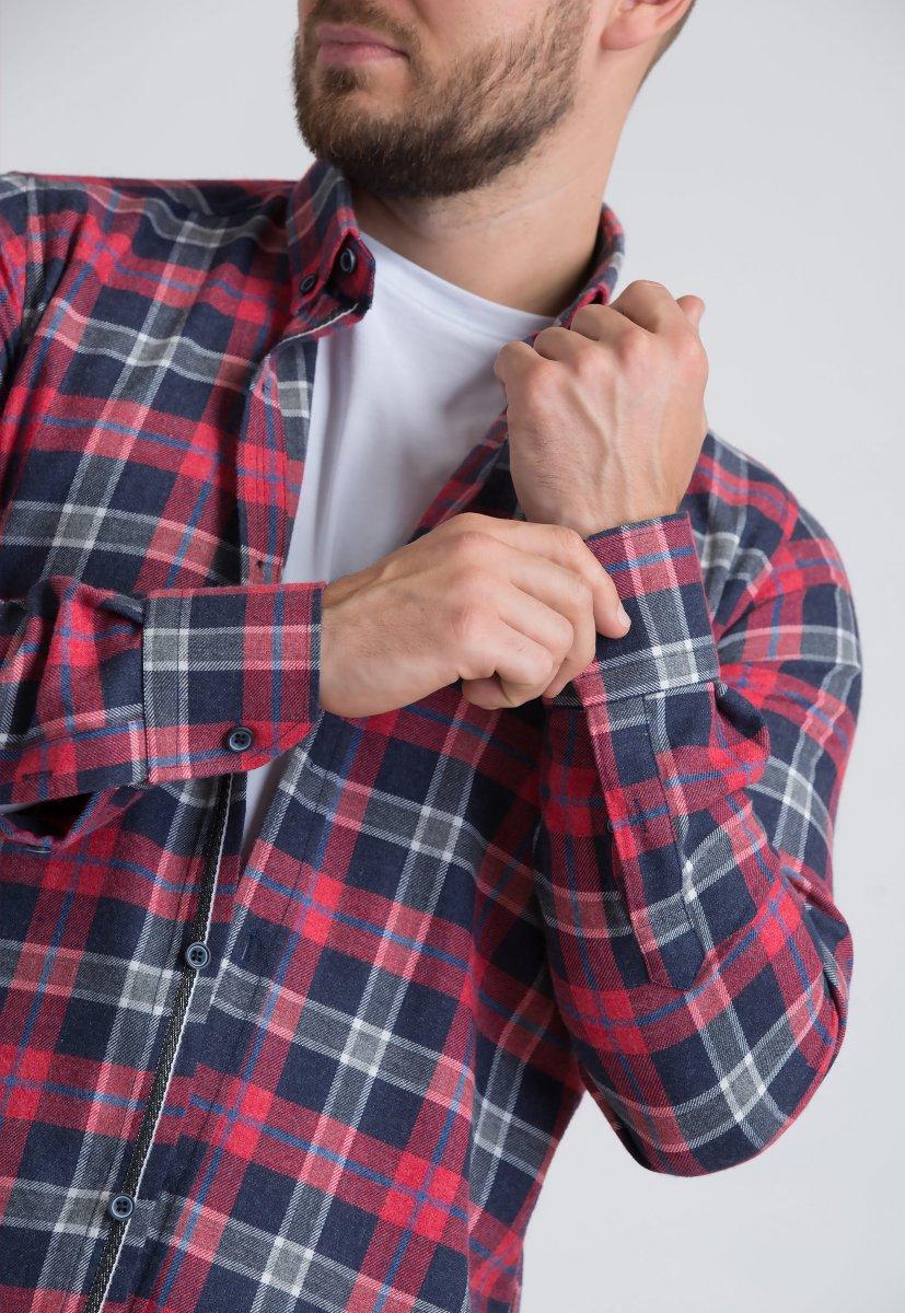 Рубашка Trend Collection U02-1001-20 Красный+синяя клетка - Фото 1
