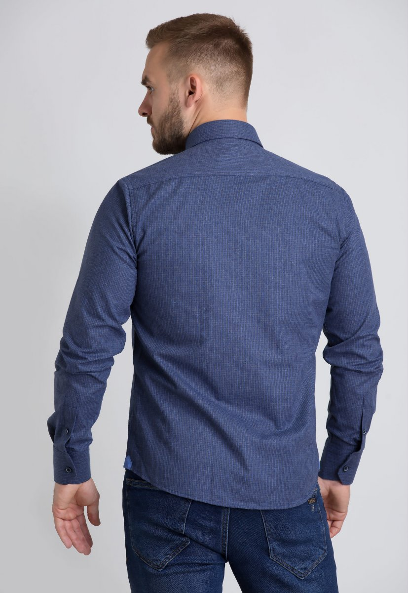 Рубашка Trend Collection U02-1001-20 Синий+голубой - Фото