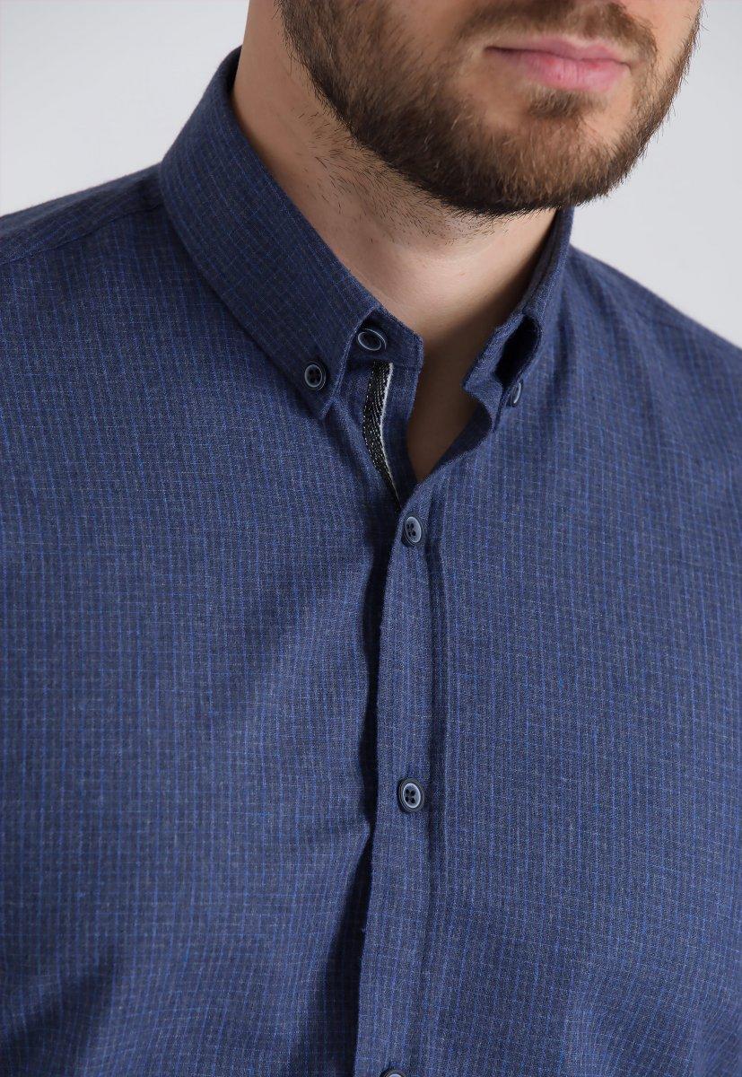 Рубашка Trend Collection U02-1001-20 Синий+голубой - Фото 1