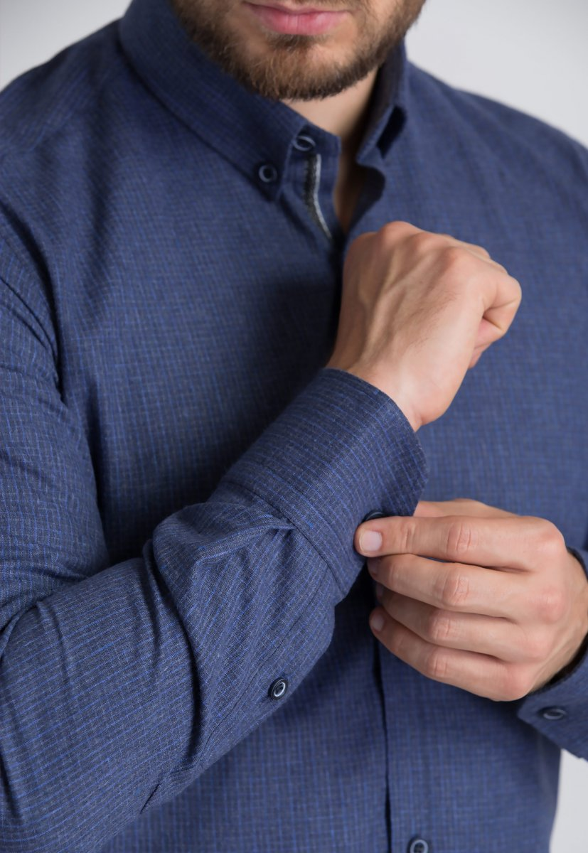 Рубашка Trend Collection U02-1001-20 Синий+голубой - Фото 2