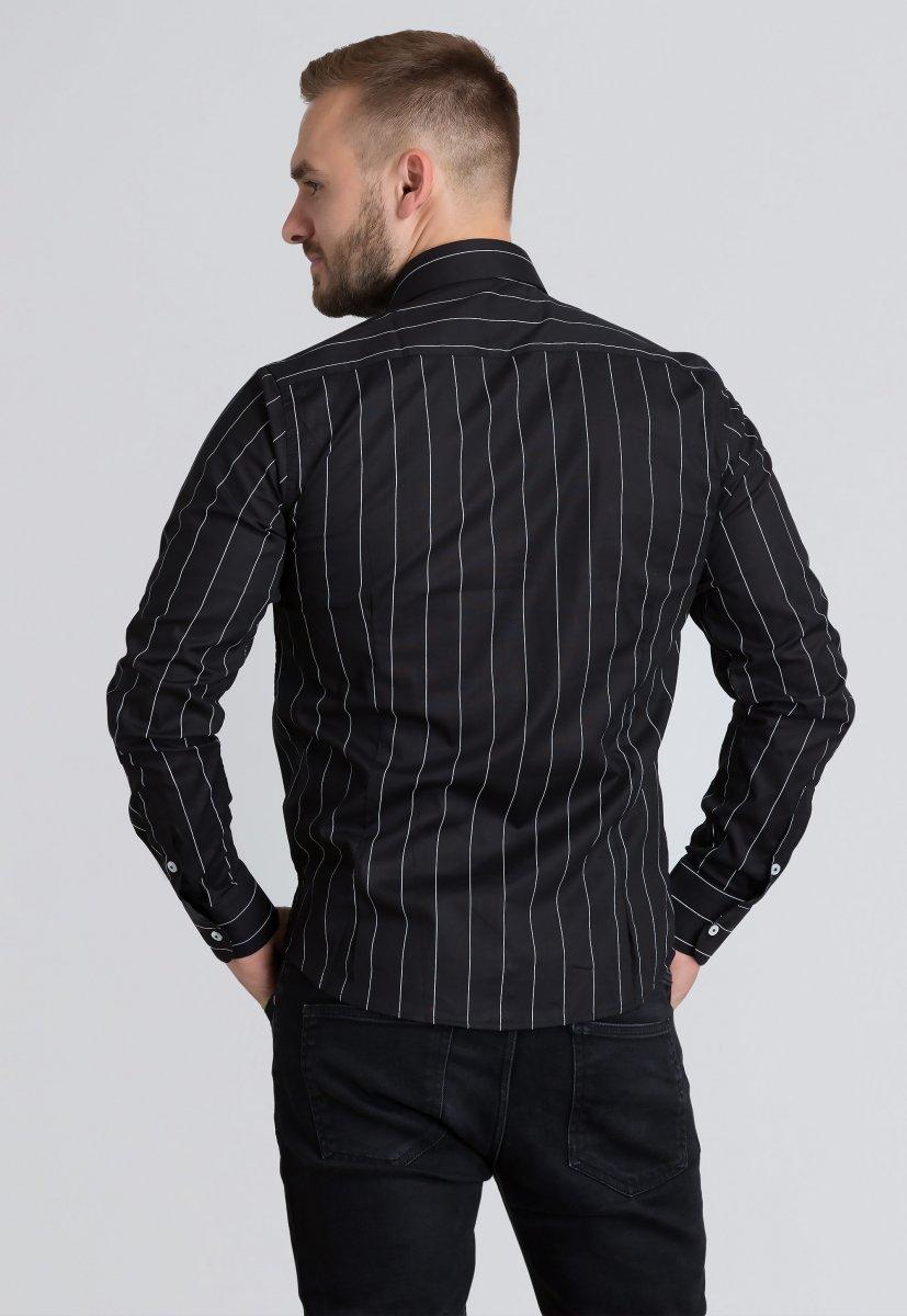 Рубашка Trend Collection U02-1090-20 Черный+белая полоска - Фото