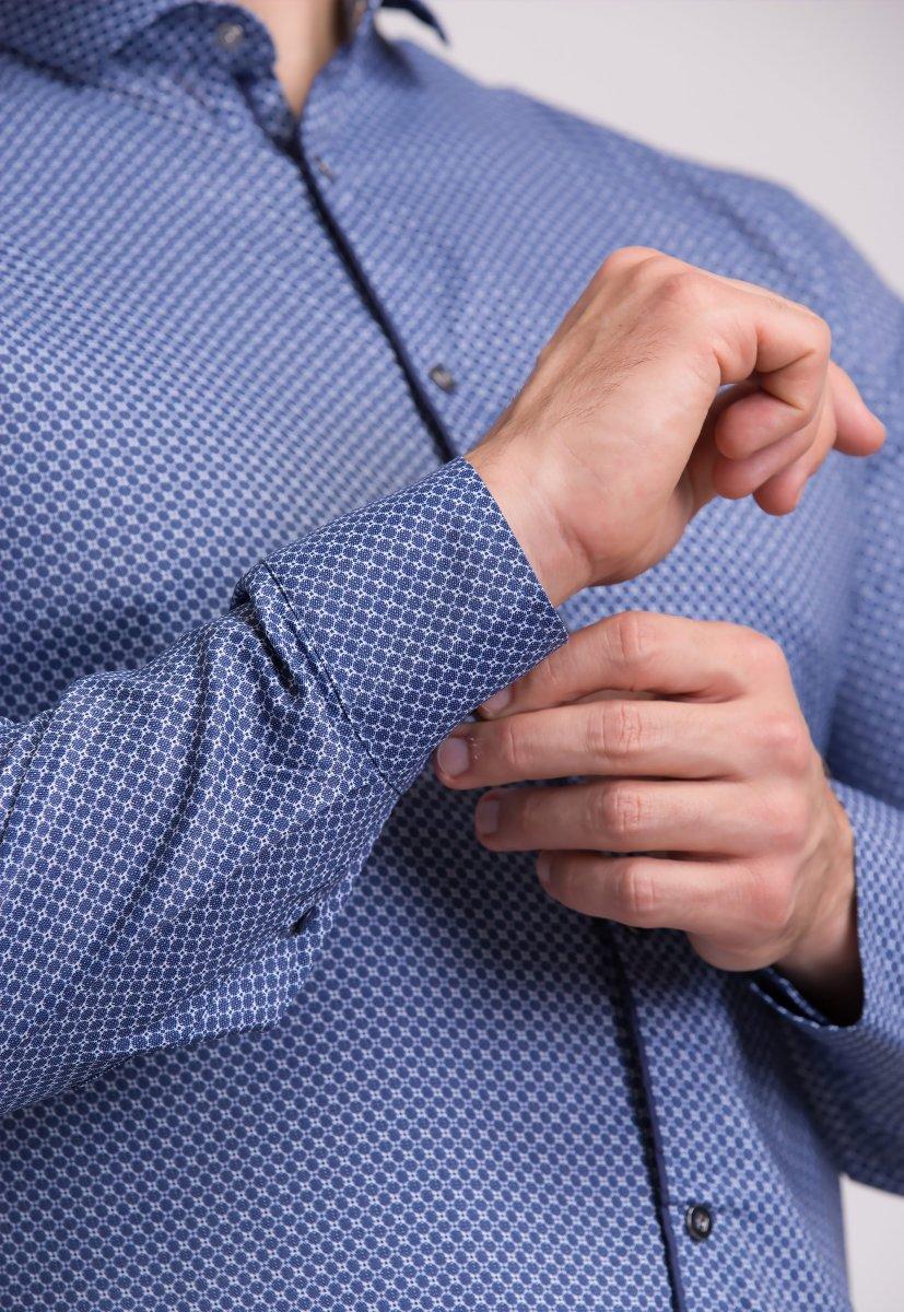 Рубашка Trend Collection 19165 Синий+белая сота - Фото 1