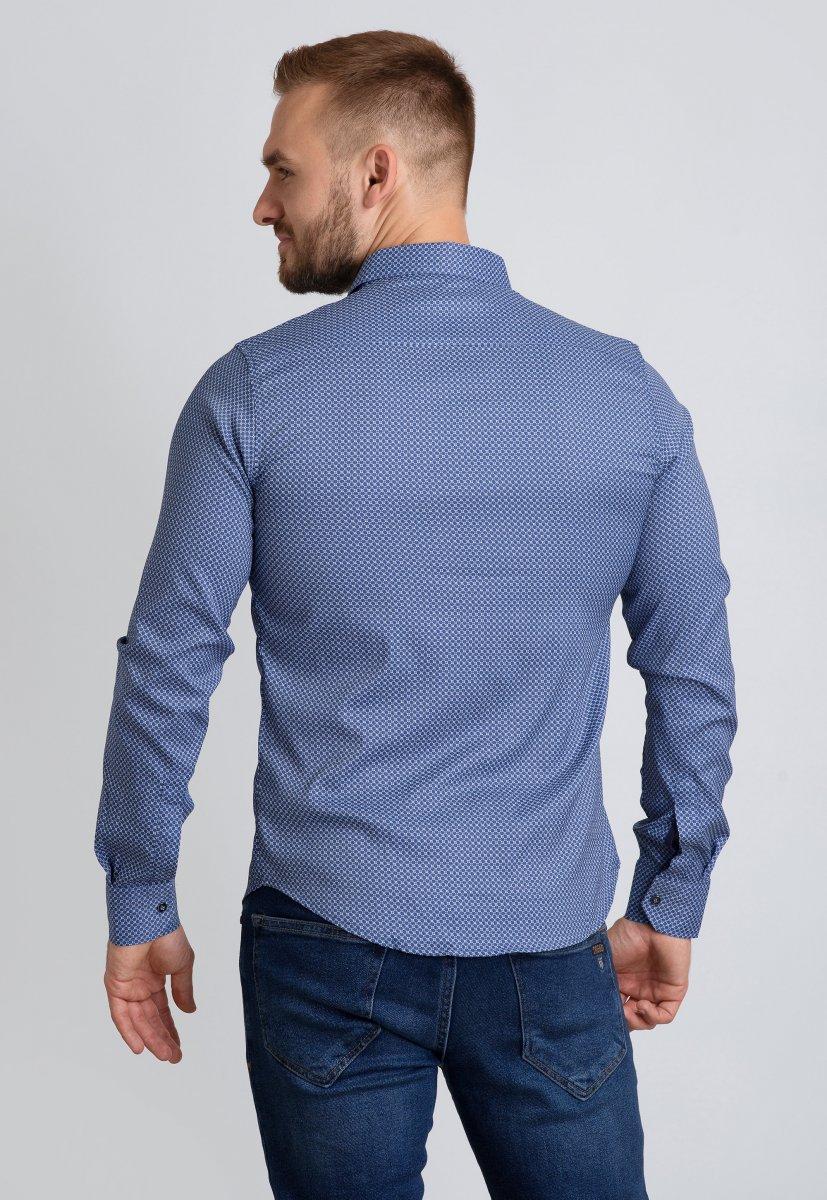 Рубашка Trend Collection 19165 Синий+белая сота - Фото 2
