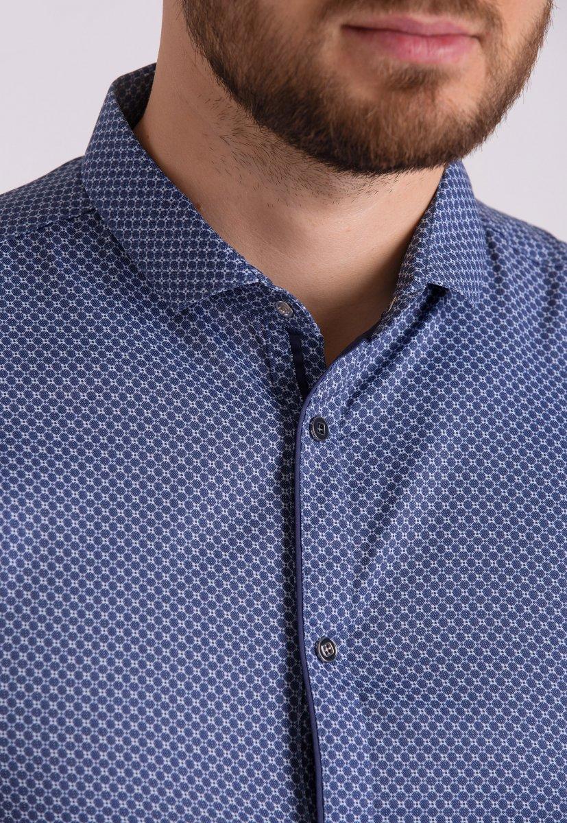 Рубашка Trend Collection 19165 Синий+белая сота - Фото 3